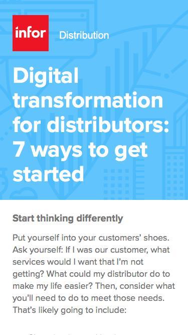 Digital transformation for distributors: 7 ways to get started