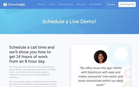 Schedule a Live Demo! - Cirrus Insight