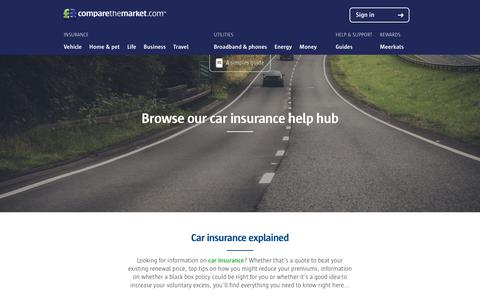Car Insurance Help, Guides and Tips | comparethemarket.com