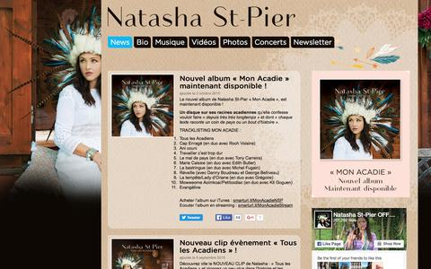 Screenshot of Press Page natasha-stpier.com - News - Natasha St-PierNatasha St-Pier - captured June 19, 2016