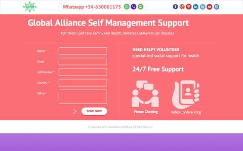 Screenshot of Home Page globalalliancesms.org captured Jan. 29, 2016