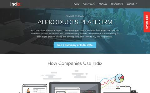 Indix: Commerce-ready AI platform for Product Information