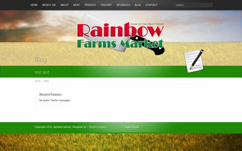 Screenshot of Blog rainbowsupermarket.com - Blog - captured Oct. 27, 2014