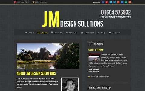 Screenshot of About Page jmdesignsolutions.com - Worcester Website Design, Wordpress Web Site Designer - captured Dec. 20, 2015