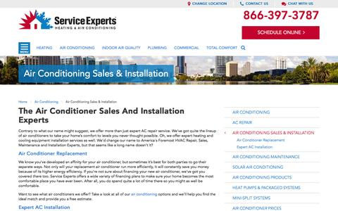 your city Air Conditioner Sales | Service Experts