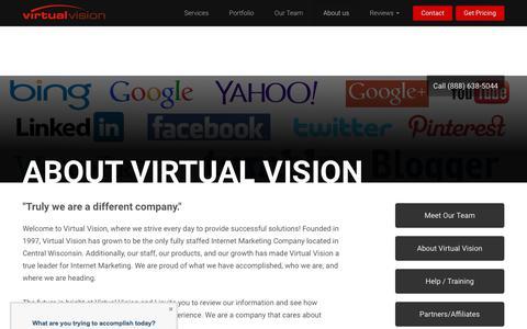 Screenshot of About Page virtualvision.com - Virtual Vision Computing an Internet Marketing Company, Website Design Company - captured Nov. 15, 2017