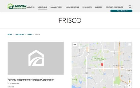 Frisco | Fairway Independent Mortgage Corporation