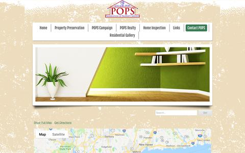 Screenshot of Maps & Directions Page popsonline.net - Directions to POPS - POPS - Construction, Remodeling, Roofing, Rehab REO, Preservation Services Suffolk, Long Island - captured Nov. 22, 2018