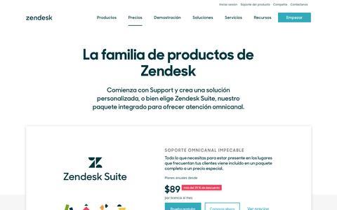 Screenshot of Pricing Page zendesk.es - Precios de Zendesk   Planes desde solo $5 al mes - captured Sept. 23, 2018
