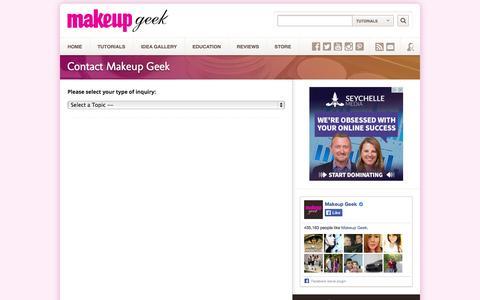 Screenshot of Contact Page makeupgeek.com - Contact Makeup Geek – Makeup Geek - captured Oct. 27, 2014