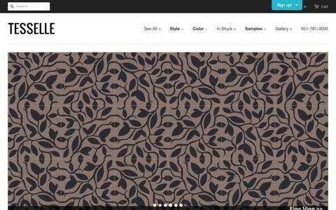 Screenshot of Home Page tesselle.com - Tesselle - Modern Encaustic Cement Tiles - captured Aug. 13, 2016