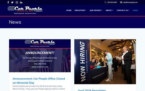 Screenshot of Press Page carpeople.com - News – Car People Agency - captured Sept. 26, 2018