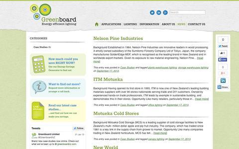 Screenshot of Press Page greenboardnz.com - News | Greenboard NZ - captured Oct. 3, 2014