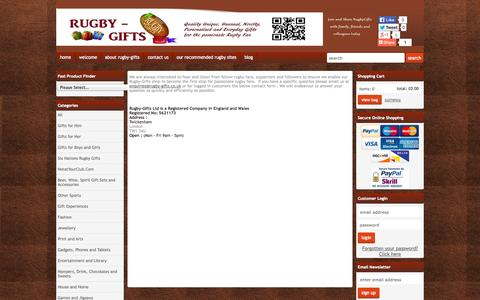 Screenshot of Contact Page rugby-gifts.co.uk - RUGBY-GIFTS Contact Us - captured Oct. 6, 2014
