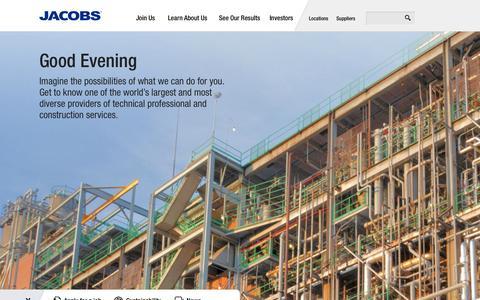 Screenshot of Home Page globalskm.com - Jacobs - captured Oct. 2, 2014