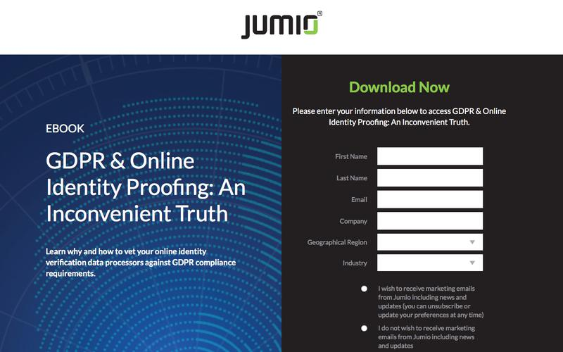 GDPR and Online Identity Proofing E-Book | Fintrail | Jumio