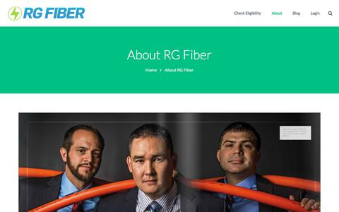 Screenshot of About Page rgfiber.com - About RG Fiber - captured Oct. 12, 2017