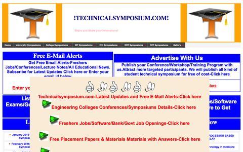 Screenshot of Home Page technicalsymposium.com - Technical symposium. - captured Nov. 13, 2015