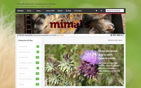 Screenshot of Blog mimal.es - mimal's    blog sobre mascotas, consejos sobre salud, alimentación y adiestramiento de animales domesticos - captured Oct. 26, 2014