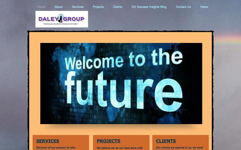 Screenshot of Home Page daleygroup.com - Daley Group, LLC, Leadership, Sales Team and Executive Coaching - captured Oct. 1, 2014