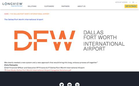The Dallas/Fort Worth International Airport | Longview