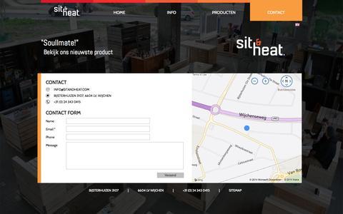 Screenshot of Contact Page sitandheat.com - Contact | Sit & Heat - captured Oct. 6, 2014
