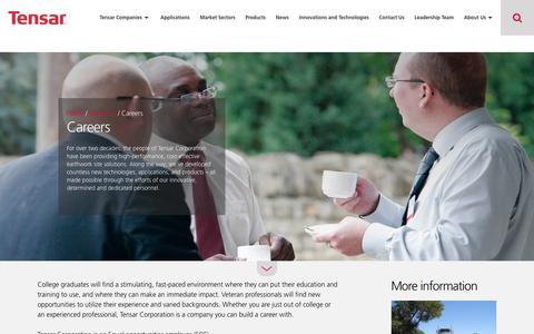 Screenshot of Jobs Page tensarcorporation.com - Careers   Tensar International - captured Sept. 21, 2018