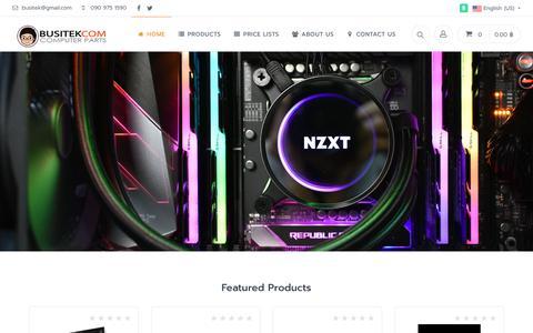 Screenshot of Home Page busitek.com - Home | Busitek - captured Nov. 8, 2018