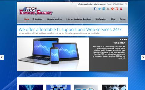 Screenshot of Home Page rcstechnologysolutions.com - Business Consultant Boston   www.rcstechnologysolutions.com - captured Oct. 7, 2014