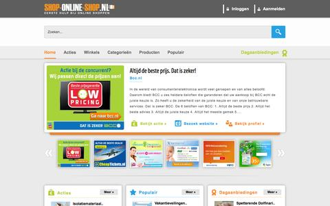 Screenshot of Home Page shop-online-shop.nl - Shop Online Shop - Home - captured Sept. 19, 2014
