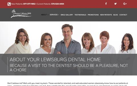 Screenshot of About Page drwinans.com - About Our Lewisburg Dental Practice | Lawrence J. Winans DMD - captured July 2, 2018