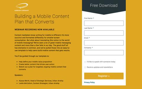 Building a Mobile Content Plan that Converts