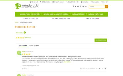Screenshot of Testimonials Page wondercide.com - Wondercide Reviews & Customer Stories - captured Oct. 26, 2014