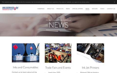 Screenshot of Press Page inkservicesrl.com - News :: Inkservicesrl - captured July 26, 2018