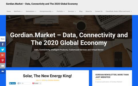 Screenshot of Blog gordian.market - Blog - Gordian.Market - Data, Connectivity and The 2020 Global Economy - captured Nov. 2, 2018