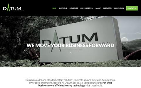 Screenshot of Home Page datumcorporation.com - Home | DATUM Corporation - captured Sept. 30, 2014