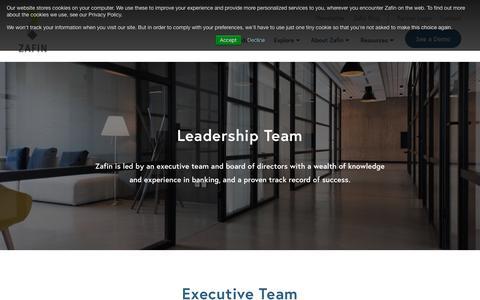 Screenshot of Team Page zafin.com - Leadership Team | Zafin | Banking Software - captured July 13, 2018