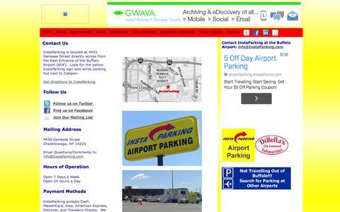Screenshot of Contact Page instaparking.com - Contact Us - captured Oct. 6, 2014