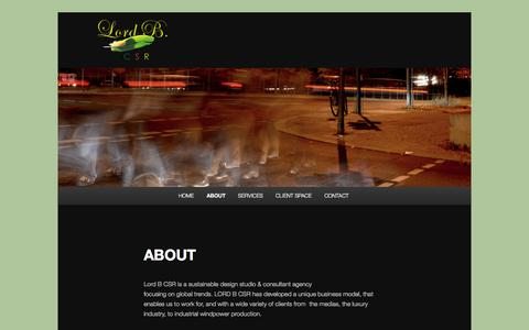 Screenshot of About Page lordbcsr.com - ABOUT | - captured Sept. 30, 2014