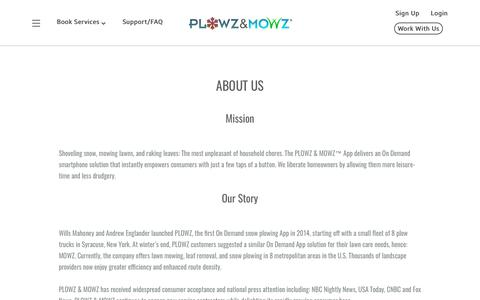 Screenshot of About Page plowzandmowz.com - About Us | PLOWZ and MOWZ - captured March 17, 2018