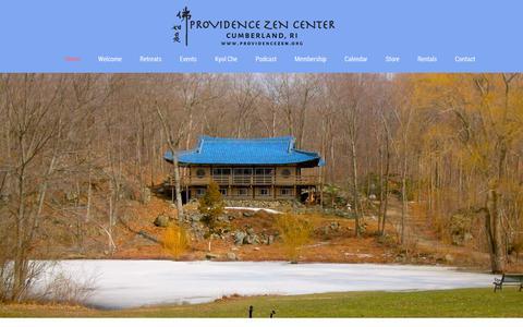 Screenshot of Home Page providencezen.org - Providence Zen Center – Zen Buddhist Temple in Cumberland, RI - captured Sept. 30, 2018