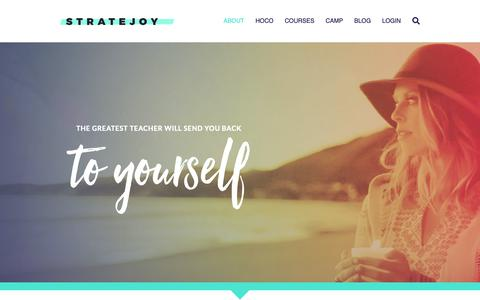 Screenshot of About Page stratejoy.com - About - Stratejoy - captured Nov. 17, 2018