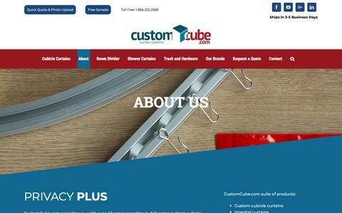 Screenshot of About Page customcube.com - About Custom Cube | CustomCube.com - captured Oct. 21, 2018