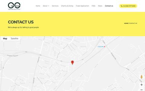 Screenshot of Contact Page genuinesolutions.co.uk - Contact us | Genuine Solutions Ltd - captured Sept. 27, 2018