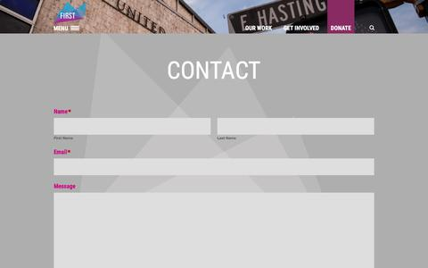 Screenshot of Contact Page firstunited.ca - First United | Contact - First United - captured Oct. 13, 2017