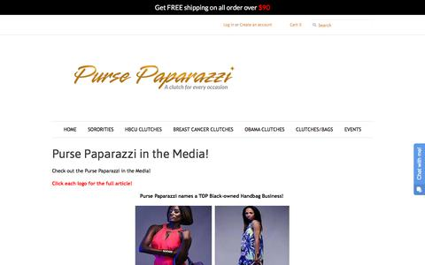 Screenshot of Press Page thepursepaparazzi.com - Purse Paparazzi in the Media! – The Purse Paparazzi - captured Feb. 6, 2018