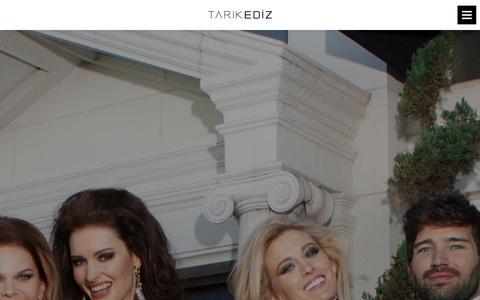 Screenshot of Press Page tarikediz.com - Tarik Ediz | Prom | Evening Dresses | Abiye - captured Sept. 23, 2014