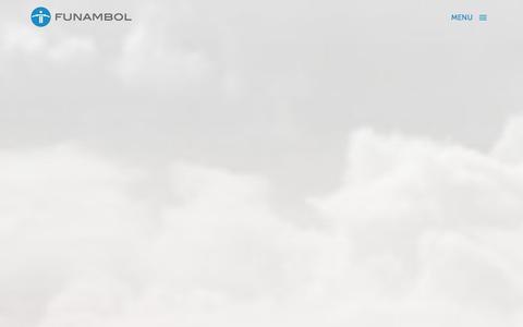 Screenshot of Home Page funambol.com - Funambol Personal Cloud Solutions - captured Sept. 16, 2014