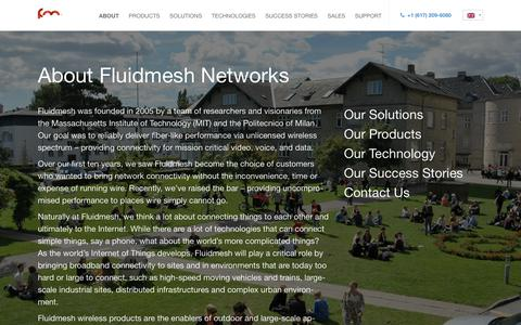 Screenshot of About Page fluidmesh.com - About - Fluidmesh - captured Dec. 19, 2018