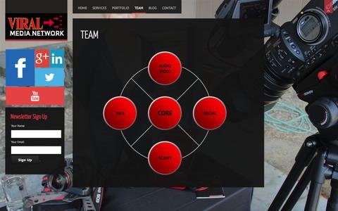 Screenshot of Team Page viralmedianetwork.com - Team | ViralMediaNetwork - captured Oct. 7, 2014